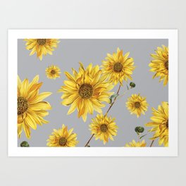 Sunflower Pattern 5 Art Print