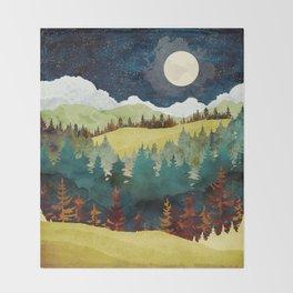 Autumn Moon Throw Blanket