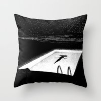 apollonia Throw Pillows featuring asc 593 - Le silence des cigales (The midnight lights) by From Apollonia with Love