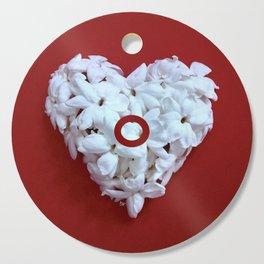 Red Monogrammed Heart O Cutting Board