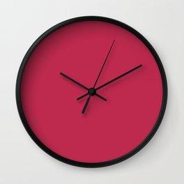 Brick Red Color Wall Clock