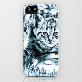 Blue Baby Cats iPhone Case