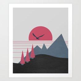 Minimal Sunset 16 Art Print