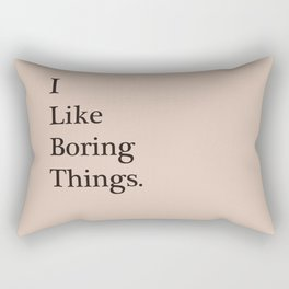 Boring Rectangular Pillow