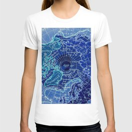 North Pole Neon Map T-shirt