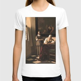 """Johannes Vermeer """"Woman Writing a Letter, with her Maid"""" T-shirt"""