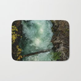 Swirling River -- Run off from Crater Lake (Oregon) Bath Mat