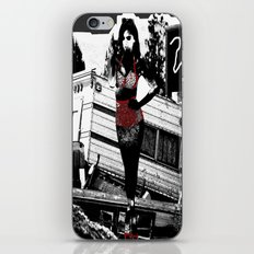 Ornamental Pinup in Black, White, and Red iPhone & iPod Skin