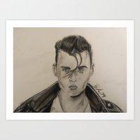 rockabilly Art Prints featuring Rockabilly by Brittany Ketcham