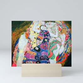 Gustav Klimt - The Maiden - The Virgin - Die Jungfrau - Vienna Secession Painting Mini Art Print