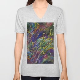 Can You Feel The Music? Unisex V-Neck
