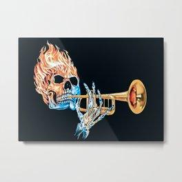 Trumpet Sku Plays Trumpet Metal Print