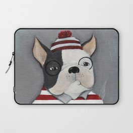 Waldo the Boston Terrier Laptop Sleeve