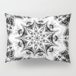Atomic Black Center Swirl Mandala Pillow Sham