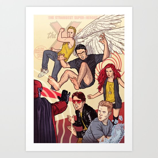 Tribute to X-Men #1 Art Print