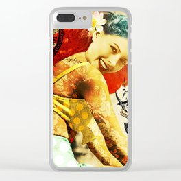 Rockabilly Dolly - Cassie Clear iPhone Case