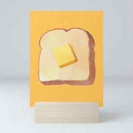 Toast with Butter polygon art Mini Art Print