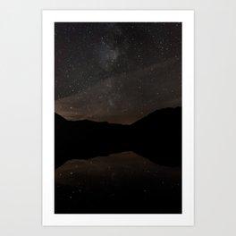 Night lake Art Print