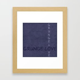 Gunge love 2 Framed Art Print