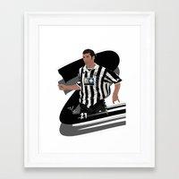 zidane Framed Art Prints featuring Zidane_zz by Nile