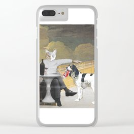 The Difference Between Cats and Dogs II Clear iPhone Case