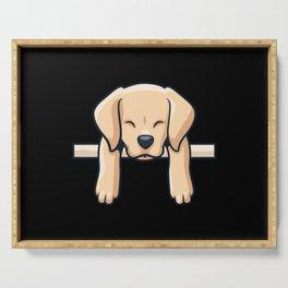Cute Labrador dog puppy retro gift Serving Tray