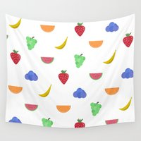 fruit Wall Tapestries featuring Fruit by brittcorry