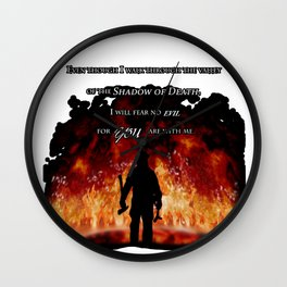 Firefighter Tribute Wall Clock