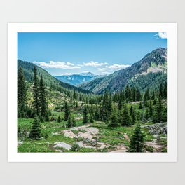 Colorado Wilderness // Why live anywhere else? Amazing Peaceful Scenery with Evergreen Dusted Hills Art Print