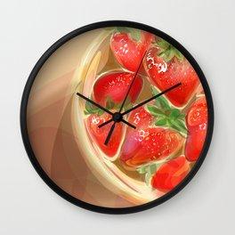 fraises. Wall Clock