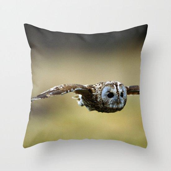 FLIGHT OF THE TAWNY OWL Throw Pillow