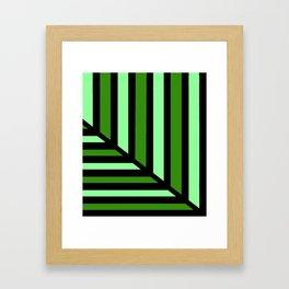 Green Perspective Line Art Framed Art Print
