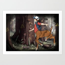 Monster Falls: Dipper Art Print