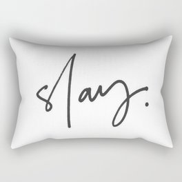 Slay (white) Rectangular Pillow