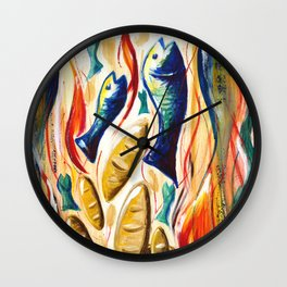 Loaves and Fishes Wall Clock