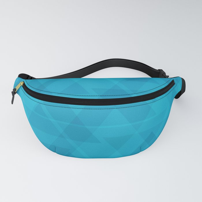 Gentle light blue triangles in the intersection and overlay. Fanny Pack