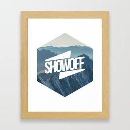 SHOWOFF to the Hills Framed Art Print