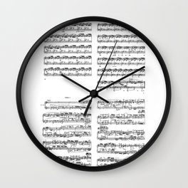 well-tempered clavier Wall Clock