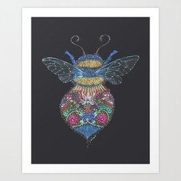 Bee Totem Art Print