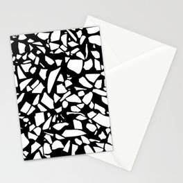Terrazzo White on Black Stationery Cards
