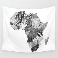 africa Wall Tapestries featuring Africa by Kacenka