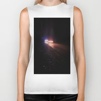 racing Biker Tanks featuring UFO Racing by Jorgenson Art Syndicate