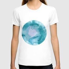 1    | 200130 | Circle | Moon | Watercolor Painting |  Watercolor Art T-shirt