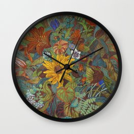 flower 2【Japanese painting】 Wall Clock