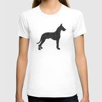 great dane T-shirts featuring Dog III - Great Dane by Alisa Galitsyna