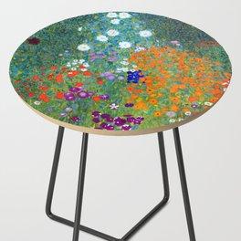 Gustav Klimt Flower Garden Side Table