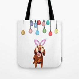Happy Easter Vizsla Bunny Tote Bag
