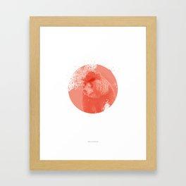 Stylish Bear Framed Art Print