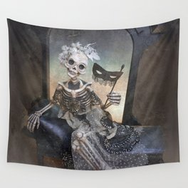Catrina in Waiting Skeleton Large Format Wall Tapestry