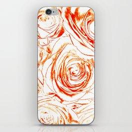 Roses // Wedding Flowers, Abtract Minimalist Art iPhone Skin